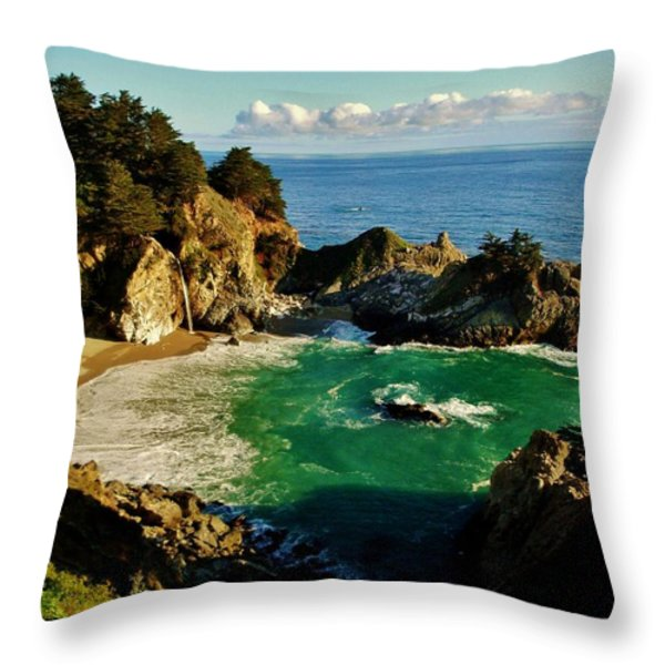 Big Sur Throw Pillow by Benjamin Yeager