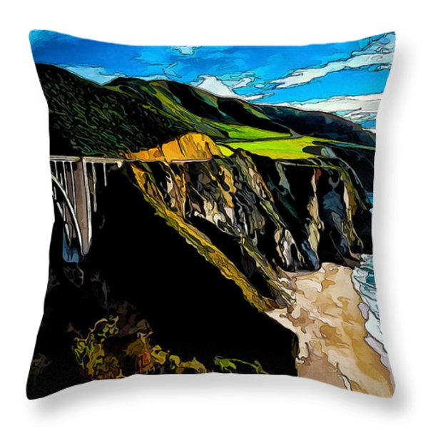 Big Sur Bridge Throw Pillow by Bill Caldwell -        ABeautifulSky Photography