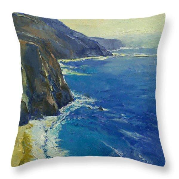 Big Sur California Throw Pillow by Michael Creese