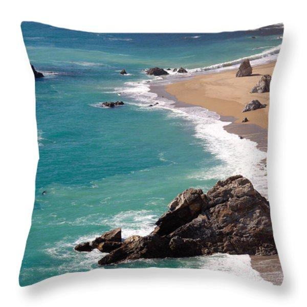 Big Sur Coast Throw Pillow by Lynn Bauer