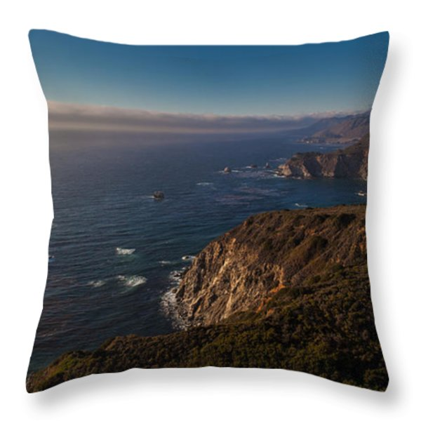 Big Sur Headlands Throw Pillow by Mike Reid