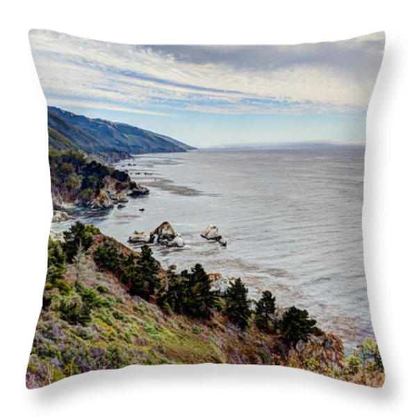 Big Sur Serenity  Throw Pillow by Heidi Smith