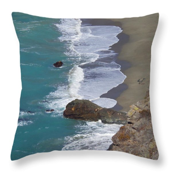Big Sur Surf Throw Pillow by Art Block Collections