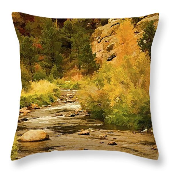 Big Thompson River 8 Throw Pillow by Jon Burch Photography