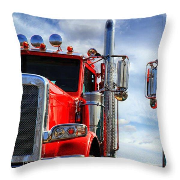 Big Trucks Throw Pillow by Bob Orsillo