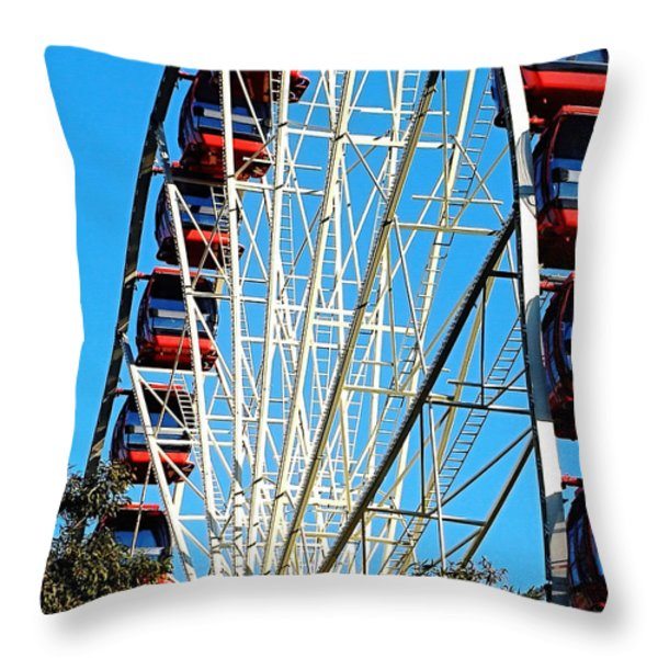 Big Wheel Throw Pillow by Kaye Menner