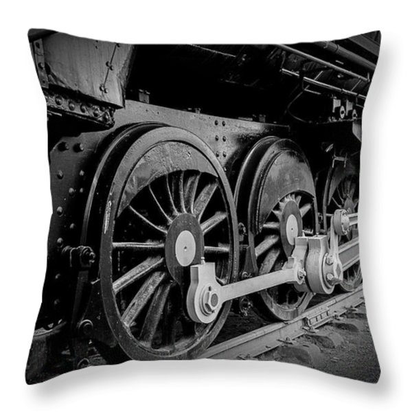 Big Wheels Throw Pillow by Herbert Seiffert