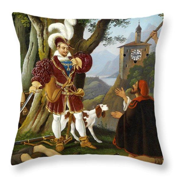 Bilderuhr Maximilian I Mit Den Raubern Throw Pillow by MotionAge Designs