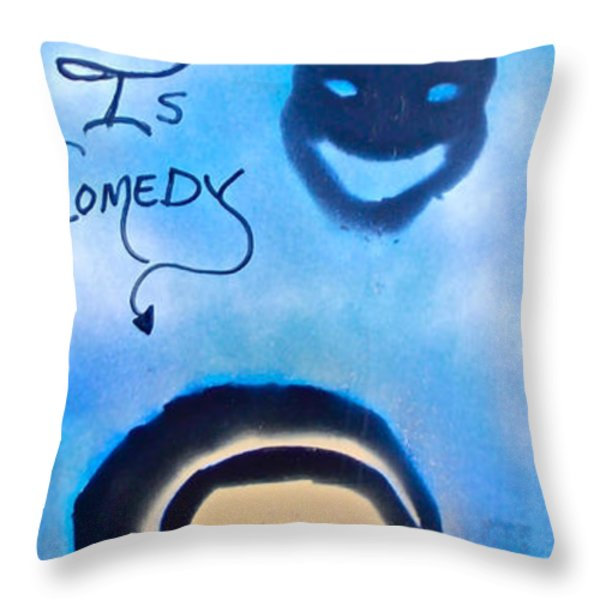 BILL COSBY Throw Pillow by TONY B CONSCIOUS