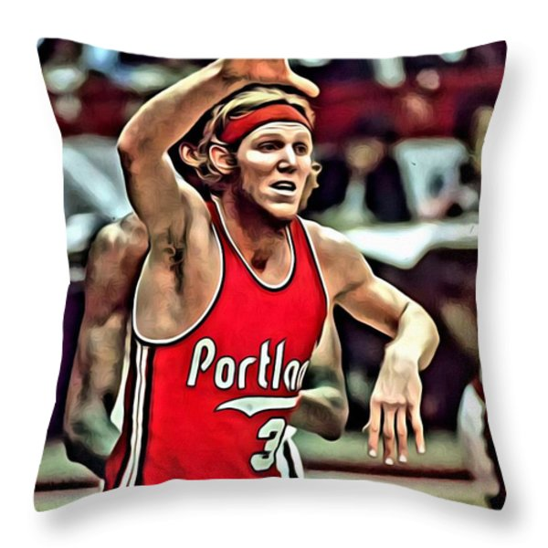 Bill Walton Throw Pillow by Florian Rodarte