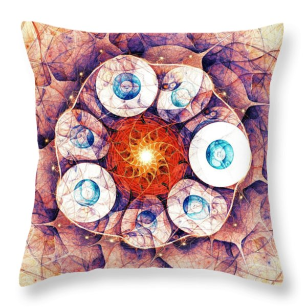 Binding of Seven Throw Pillow by Anastasiya Malakhova