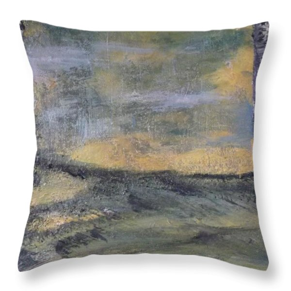 Birch Landscape Throw Pillow by Karen Butscha