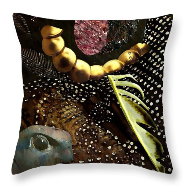 Bird God Throw Pillow by Sarah Loft