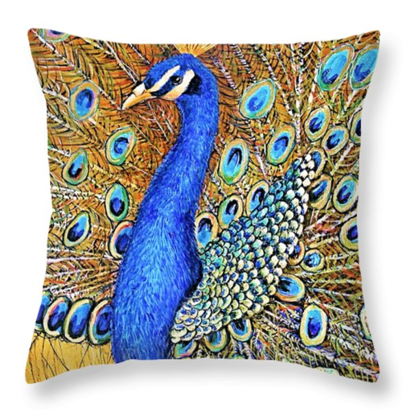 Bird Of Paradise Throw Pillow by JAXINE Cummins