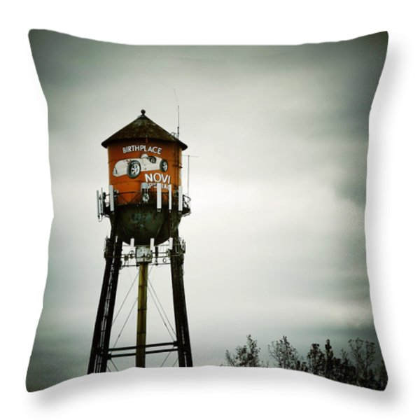 Birthplace Novi Special Throw Pillow by Natasha Marco