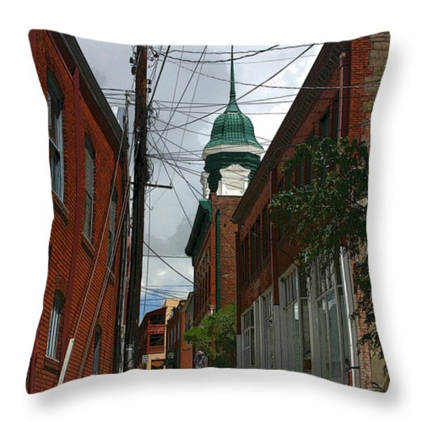 Bisbee Arizona Throw Pillow by Joe Kozlowski