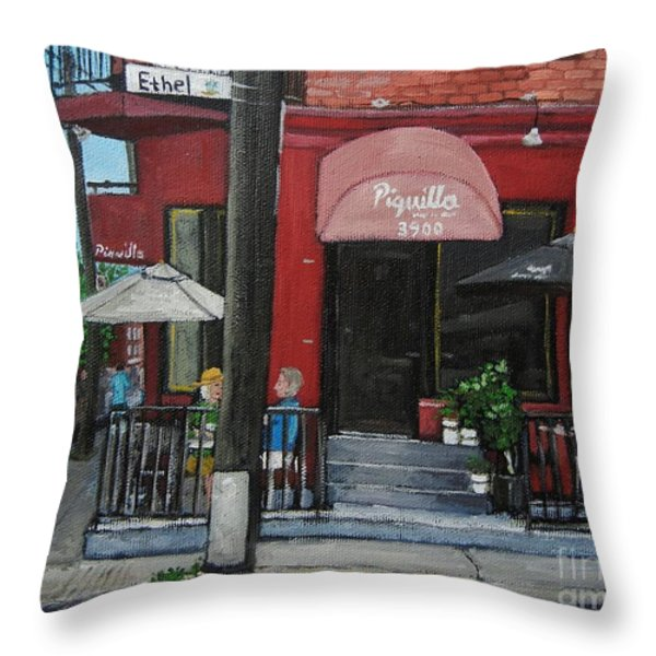Bistro Piquillo In Verdun Throw Pillow by Reb Frost