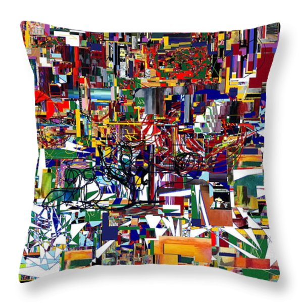 Bitachon 4  Throw Pillow by David Baruch Wolk