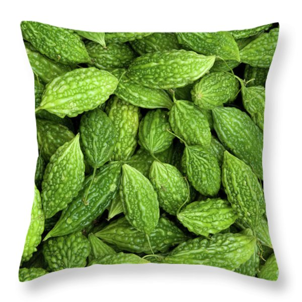 Bitter Melons Throw Pillow by Rick Piper Photography