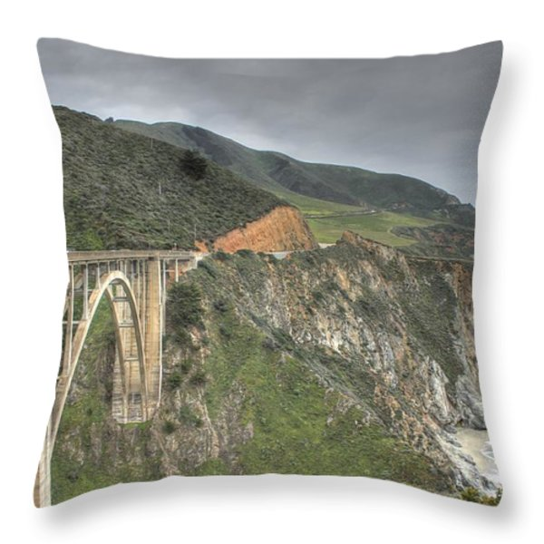 Bixby Bridge Throw Pillow by Jane Linders