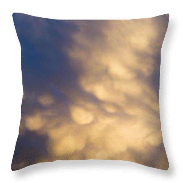 bizarre clouds Throw Pillow by Michal Boubin