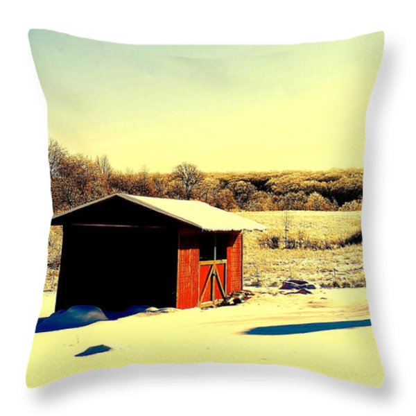Black and Color Throw Pillow by Frozen in Time Fine Art Photography