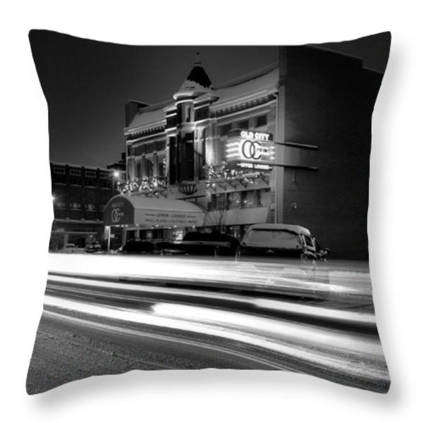 Black And White Light Painting Old City Prime Throw Pillow by Dan Sproul