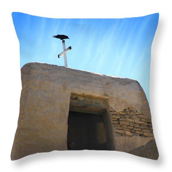 Black Bird on Duty Throw Pillow by Mike McGlothlen