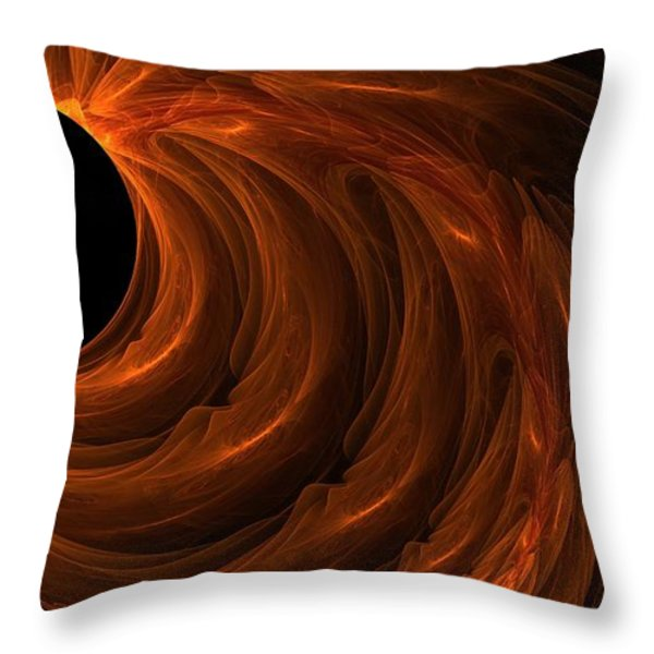 Black Hole Throw Pillow by Lourry Legarde