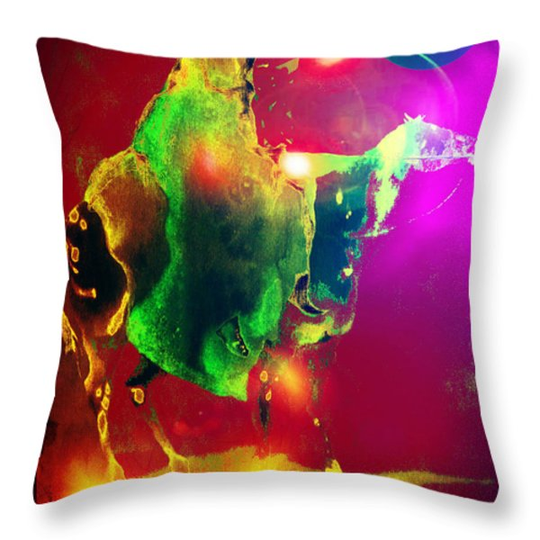 Black Rider II Throw Pillow by Joe  Gilronan