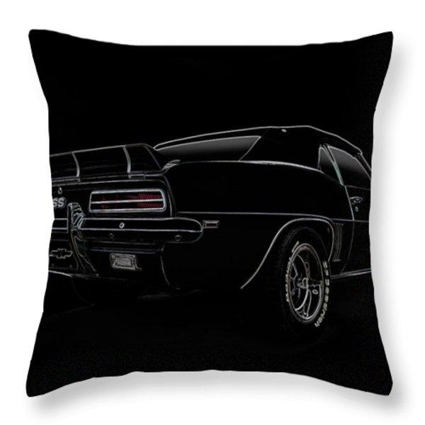 Black SS Line Art Throw Pillow by Douglas Pittman