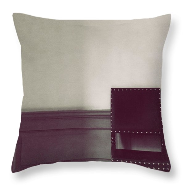 Black Stud Throw Pillow by Margie Hurwich