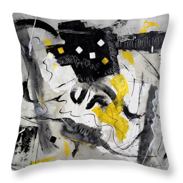 Black Tie And Tails Throw Pillow by Ruth Palmer