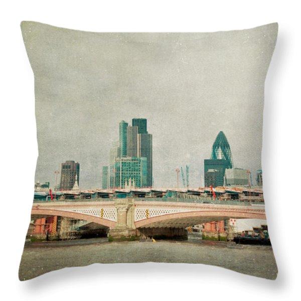 Blackfriars Bridge Throw Pillow by Violet Gray