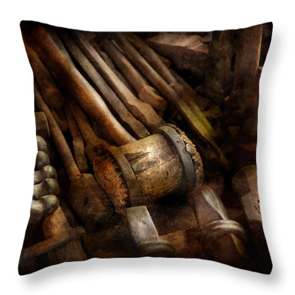 Blacksmith - The art of Pounding  Throw Pillow by Mike Savad