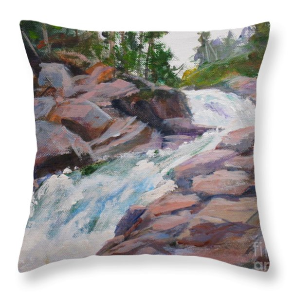 Blakiston Falls Throw Pillow by Mohamed Hirji