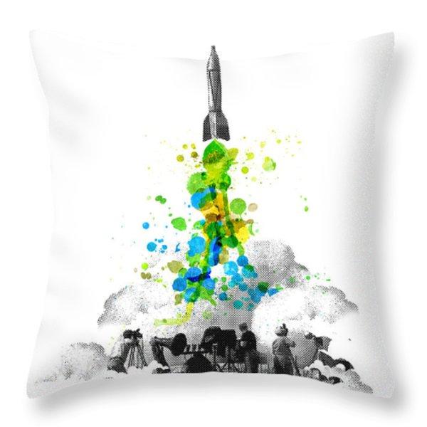 Blast Off Throw Pillow by Budi Satria Kwan