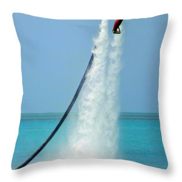Blast Off Throw Pillow by Karen Wiles
