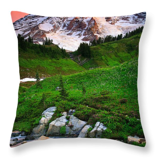 Blazing Dawn Throw Pillow by Inge Johnsson