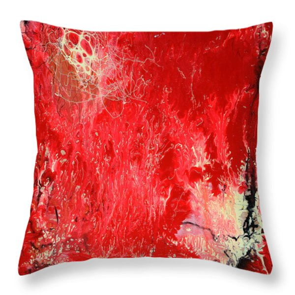 Bleeding Love Throw Pillow by Jutta Maria Pusl