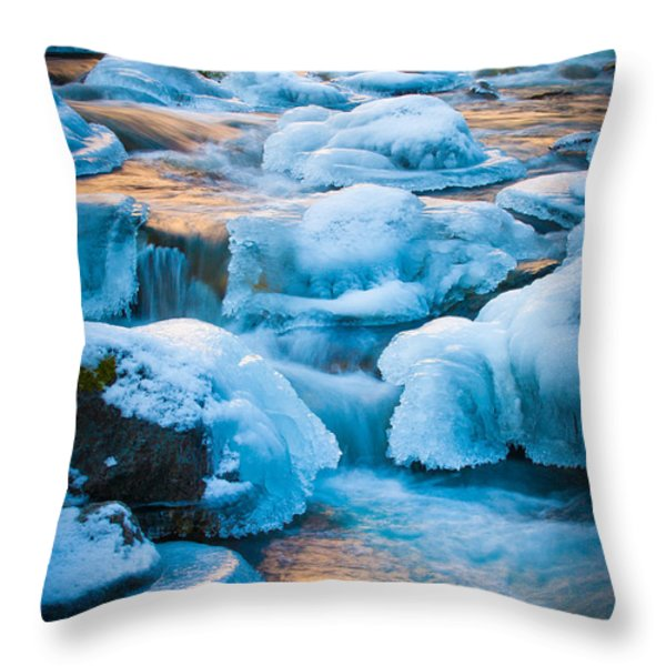 Blewett Pass Creek Throw Pillow by Inge Johnsson