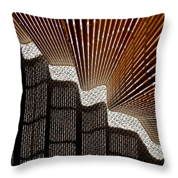 Blind Shadows Abstract I Throw Pillow by Kirsten Giving