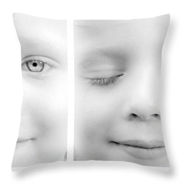 Blink Throw Pillow by Bob Orsillo