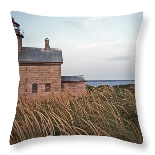 BLOCK ISLAND NORTH WEST LIGHTHOUSE Throw Pillow by Skip Willits