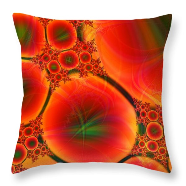 Blood Type Throw Pillow by Anastasiya Malakhova