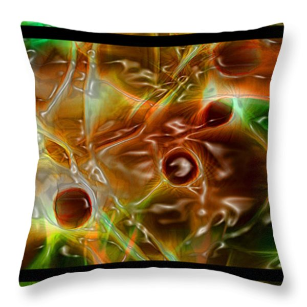 Blood Work Triptych Throw Pillow by Peter Piatt