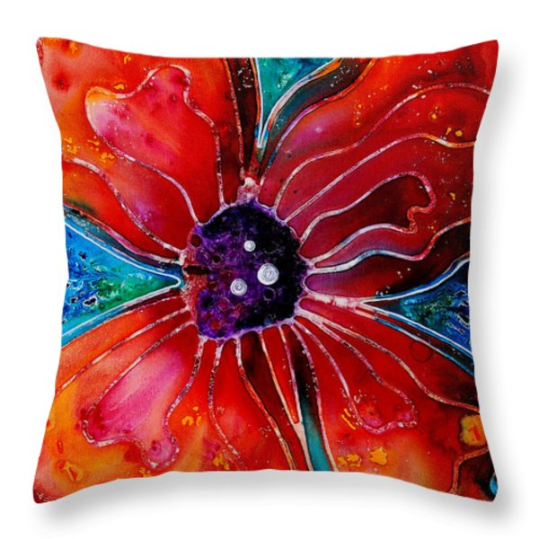 Bloom Throw Pillow by Sharon Cummings