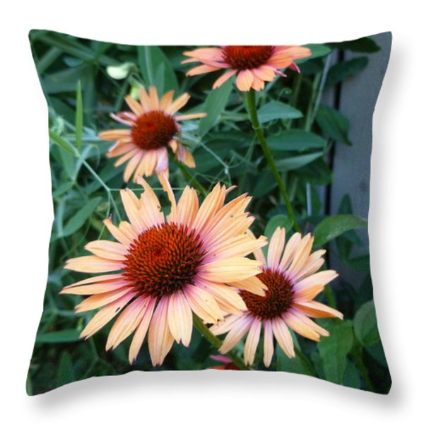 Blooming Coneheads Throw Pillow by Lingfai Leung