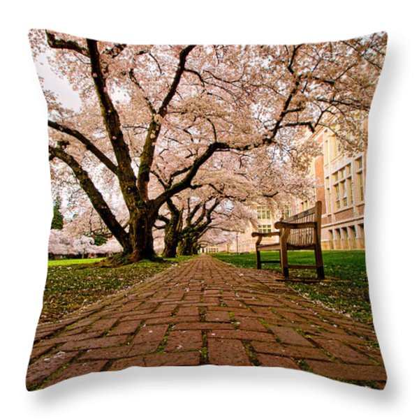 Blooming Giants Throw Pillow by Dan Mihai