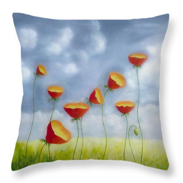 Blooming Summer Throw Pillow by Veikko Suikkanen